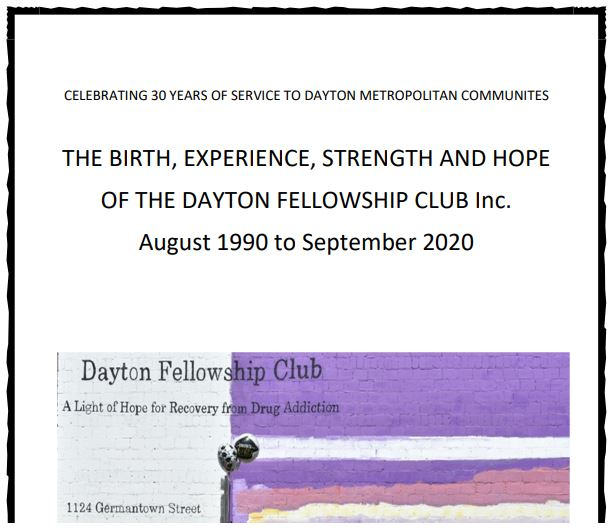 Program From the 30th Anniversary Dinner